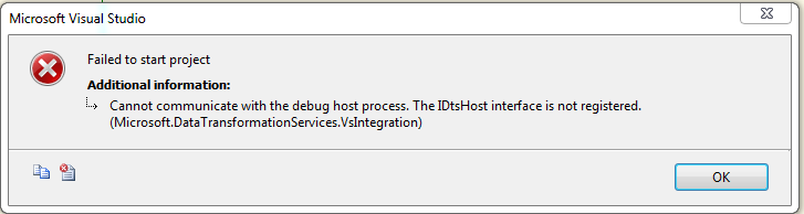 failed to communicate with debug host process in bids thomas